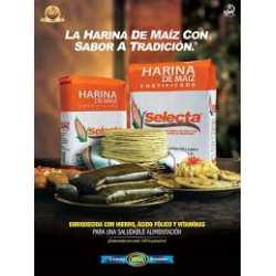 HARINA DE MAIZ FORTIFICADA 2LB MAIZ BLANCO SELECTA