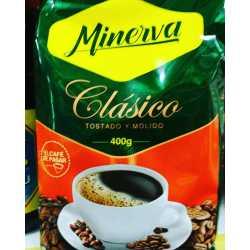 CAFE MINERVA CLASICO TOSTADO Y MOLIDO X 400 GRS